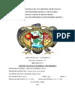 PRACTICA N° 2 USOS DE VALANSAS Y MATERIAL  VOLUMETRICO