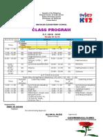 Sample of Multigrade Class Program