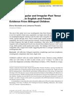 Acquiring Regular and Irregular Past Tense.pdf