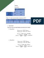 Calculos y Resultados Ebullometro