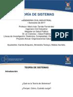 Teor a de Sistemas ICI - D a - I Sem 2017