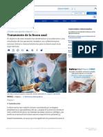Tratamiento de la fisura anal - Artículos - IntraMed