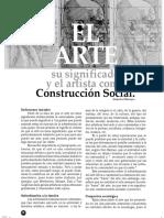 El Arte y El Artista Como Construccion Social