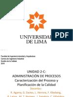 2019 UNIDAD 2-C - Caracterización Del Proceso y Planificación de La Calidad