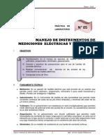 MANEJO DE INSTRUMENTOS ELECTRICOS