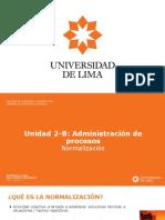 2019-1 UNIDAD 2-B - Normalización