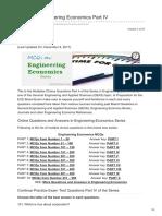 Engineering Economics Part IV