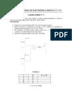 Funciones lógicas con C.I.  digitales