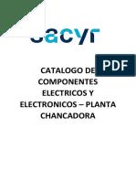 Catalogo de Componentes Sacyr