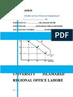 Modified Demand Schedule.economic Analysis