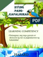 1. Ang Tao at Ang Kalamidad