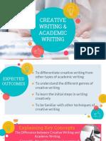 Creative Writing & Academic Writing
