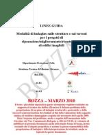 Reluis Linee Guida Prove Stru e Geo Bozza Marzo 2010