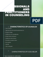 Professional and Peactitioner in the Field of Counselihg