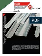 Perfileria Liviana en Acero Galvanizado Metal-gypsum - Espanol