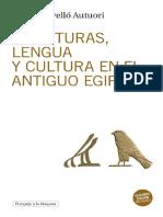 Escrituras, Lengua y Cultura en El Antiguo Egipto