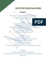 Fechas civicas 2008