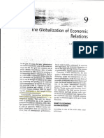 (3) Globalization of Economic Relations