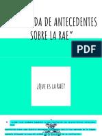 """""""Búsqueda de Antecedentes Sobre La Rae"""""""