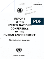 Report of UN Conference on the Human Environment