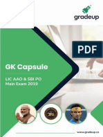 GK CAPSULE FOR SBI MAINS 2019