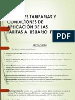 Opciones Tarifarias y Condiciones de Aplicación de Las
