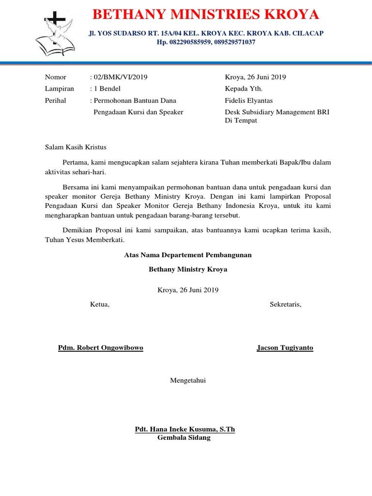 Proposal Pengajuan Pengadaan Kursi Dan Speaker Monitor Docx