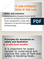 Safety and Hygienic Practices in the Lab