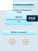 Union and Intersection of Sets