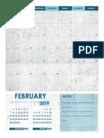 Template kalendar menggunakan MS Word