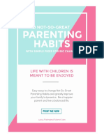 8 Good Parenting Habits Printable TPP