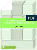 The Thoughtful Classroom - Basic Rubric