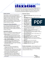 Anxiety Information Sheet - 04 - Progressive Muscle Relaxation