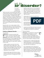 Bipolar Information Sheet - 01 - What is Bipolar Disorder