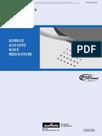 SAW Resonatros Data Sheet