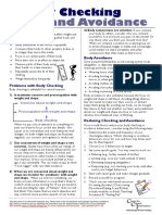 Eating Disorders Information Sheet - 03 - Body Checking and Avoidance