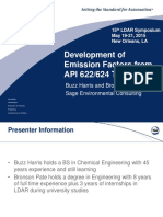 Development of Emission Factors from API 622_624 Test Data - Buzz Harris_Bronson Pate (1).pptx