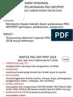 Persiapan Bimtek PKG-SKP-PPKP 2018