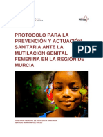 Protocolo Para La Prevención y Actuación Sanitaria Ante La Mutilación Genital Femenina en La Región de Murcia