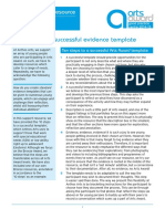 10 Steps to a Successful Evidence Template