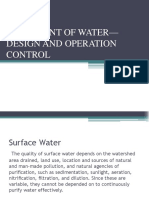 Treatment of Water— Design and Operation Control (1)