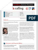 Brussels calling, Belgian EU Presidency, Business Newsletter, 8/11/2010, Issue 6