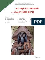 Practical and Mystical Patriarch Kyrillos VI (1959-1971)