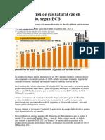 La Producción de Gas Natural Cae en 7