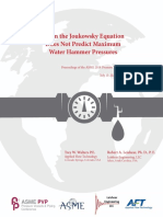When the Joukowsky Equation Does Not Predict Maximum Water Hammer Pressures Pvp2018 84050