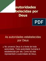 Aula 5 - Autoridades Estabelecidas Por Deus.ppt