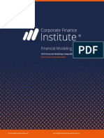 CFI Financial Modeling Best Practices 2018 Case Championships
