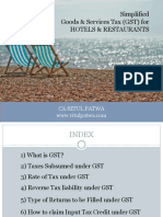 GST ON HOTEL INDUSTRY