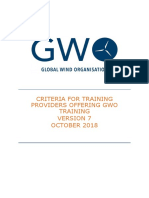 2018-10-01 GWO Training Provider Criteria Version 7