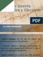 Tasas de Interés Nominales y Efectivas